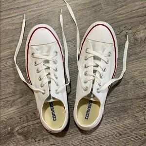 White converse low-tops